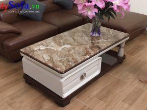 bàn sofa mặt đá sang trọng