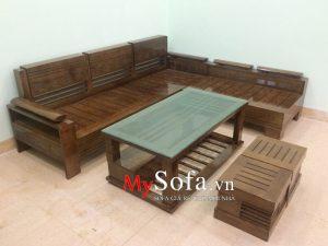 bàn ghế sofa gỗ đẹp hiện đại tại bắc ninh