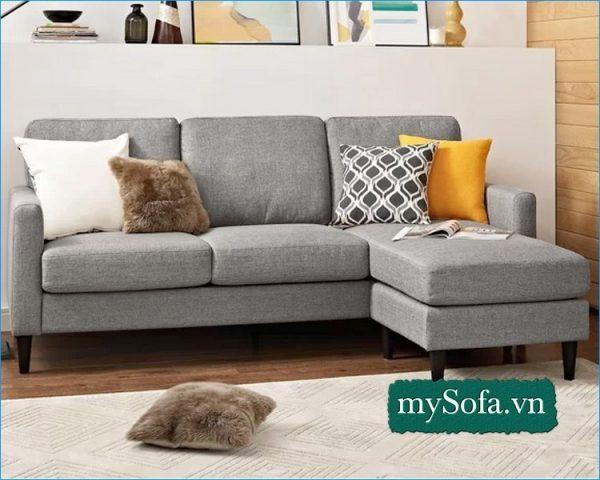 ghế sofa nỉ đẹp, sofa phòng khách chất liệu nỉ