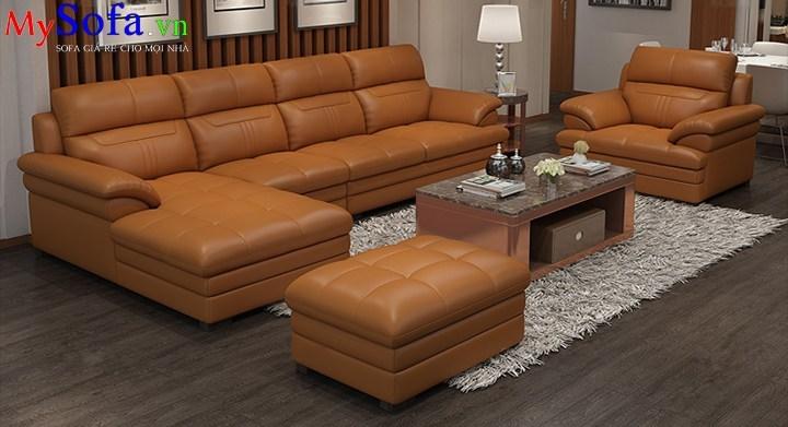 ghế sofa da cao cấp sang trọng, sofa phòng khách cao cấp