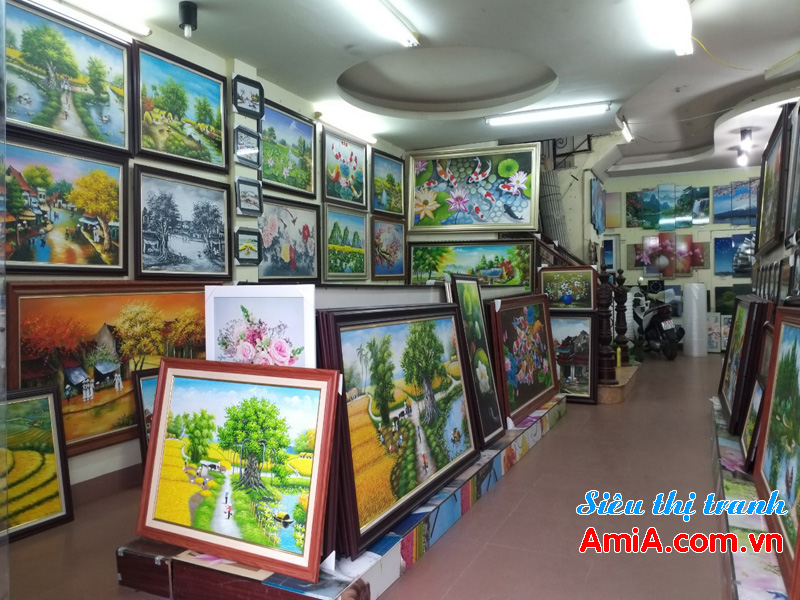 Cửa hàng bán tranh treo tường đẹp