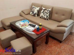 mẫu ghế sofa văng da đẹp bán chạy