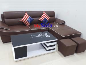 bàn ghế sofa đẹp chất liệu da