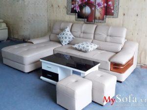 ghế sofa da đẹp cao cấp, sofa phòng khách đẹp sang trọng