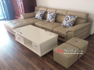 ghế sofa da đẹp, sofa góc chữ L