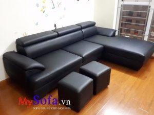 sofa da màu đen đẹp sang trọng