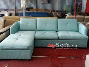 ghế sofa nỉ đẹp dạng góc chữ L