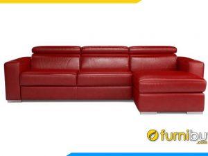 Ghế sofa da góc phòng khách đẹp FB20016