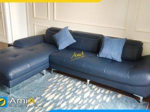 Ghế sofa da góc chữ L hiện đại AmiA346
