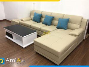 ghe sofa goc phong khach chung cu rong